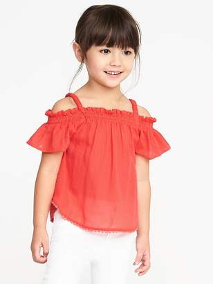 Old Navy Ruffled Off-the-Shoulder Crepe Top for Toddler Girls