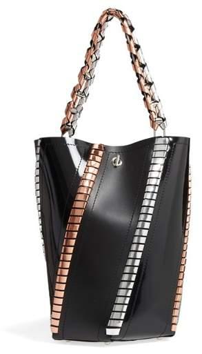 Proenza Schouler Medium Hex Metallic Whipstitch Leather Bucket Bag