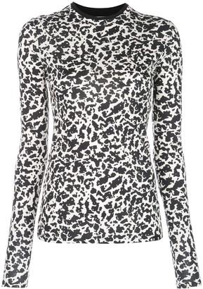 Proenza Schouler PSWL XL Notebook Long Sleeve Fitted T-Shirt