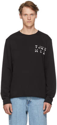 Tiger of Sweden Black Destroyed Sweatshirt