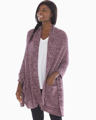 Barefoot Dreams Chic Lite Travel Shawl Burgundy And Stone
