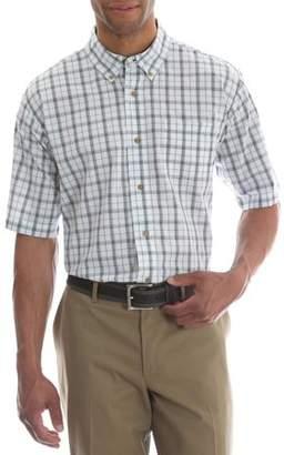 Wrangler Men's Short Sleeve Wrinkle Resist Plaid Shirt