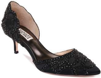 Badgley Mischka Ginny Satin D'Orsay Pointed Heels