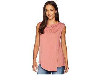 Bobeau B Collection by Nevaeh Cowl Layered Top