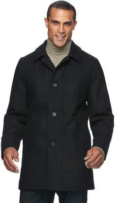 Ike Behar Big & Tall Seville Classic-Fit Wool-Blend Top Coat