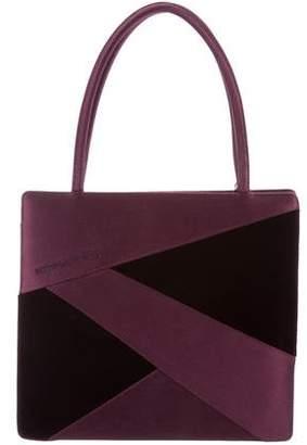 Bottega Veneta Satin &Velvet Handle Bag