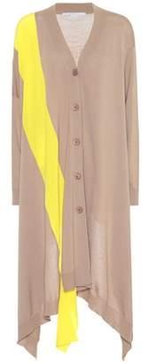 Stella McCartney Long wool and silk cardigan
