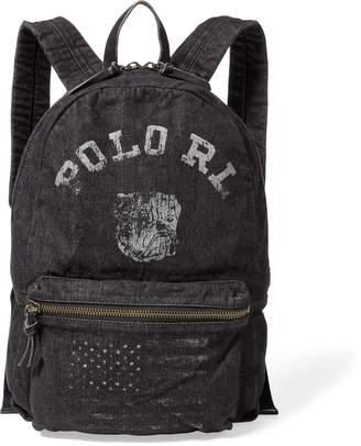 Ralph Lauren Bulldog Denim Backpack