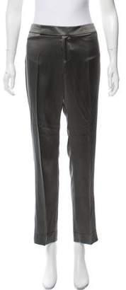 Ralph Lauren Mid-Rise Silk Pants