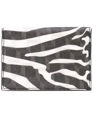Pierre Hardy zebra printed canvas wallet