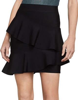 BCBGMAXAZRIA Bridgett Asymmetrical Ruffle Skirt
