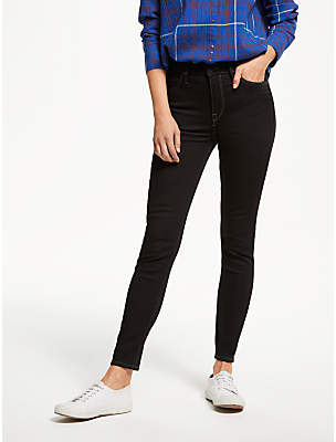 6e326395 at John Lewis and Partners · Lee Scarlett High Waisted Skinny Cropped Jeans,  Black Rinse