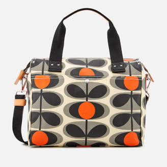 e0dafc6e684e at Mybag.com · Orla Kiely Women s Canvas Flower Stem Print Zip Messenger Bag  - Granite
