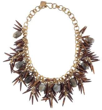 Ashley Pittman Majani Brown Quill & Labradorite Necklace