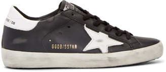 Golden Goose Black Leather Superstar Sneakers