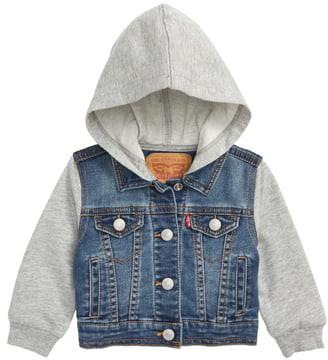 Levi's Indigo Hooded Trucker Jacket