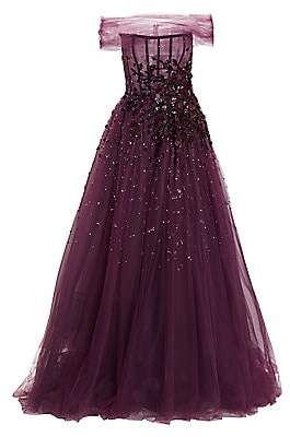 Pamella Roland Women's Embellished Off-The-Shoulder Tulle Ball Gown