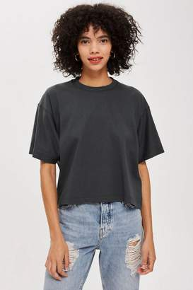 Topshop Boxy Rolled Sleeve T-Shirt