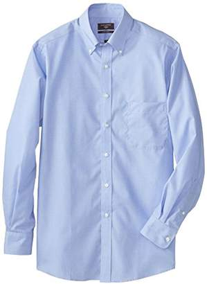 Dockers End On End Solid Dress Shirt with Button Down Collar