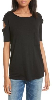 Women's Rag & Bone/jean Island Cutout Sleeve Tee $125 thestylecure.com