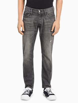 Calvin Klein straight tapered faded grey jeans