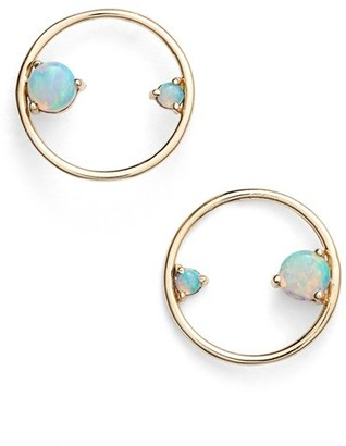 Women's Wwake Opal Circle Earrings $534 thestylecure.com