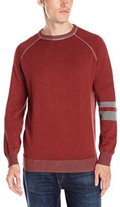 Agave Men's Folsom Banded 100% Cotton Fine Gauge Sweater