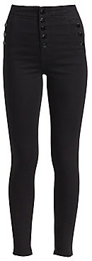 J Brand Women's Natasha Sky High-Rise Buttoned Skinny Jeans
