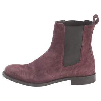 HUGO BOSS Burgundy Suede Ankle boots