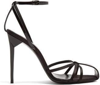 Saint Laurent Freja crystal-embellished sandals
