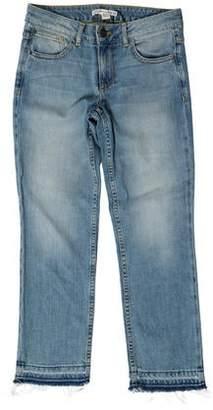 Alice + Olivia Mid-Rise Straight-Leg Jeans