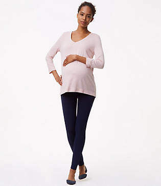 LOFT Maternity Leggings in Seamed Ponte