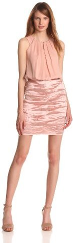 Nicole Miller Women's Georgette and Techno Metal Combo Dress