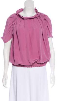 Marni Short Sleeve Silk Top