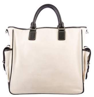 Lambertson Truex Leather-Trimmed Multi-Pocket Tote