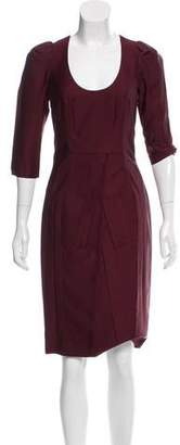 Prada Knee-Length Scoop Neck Dress w/ Tags