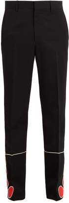 Calvin Klein Mid-rise trim-detailed wool trousers