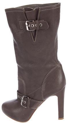 Christian Louboutin Christian Louboutin Leather Round-Toe Boots