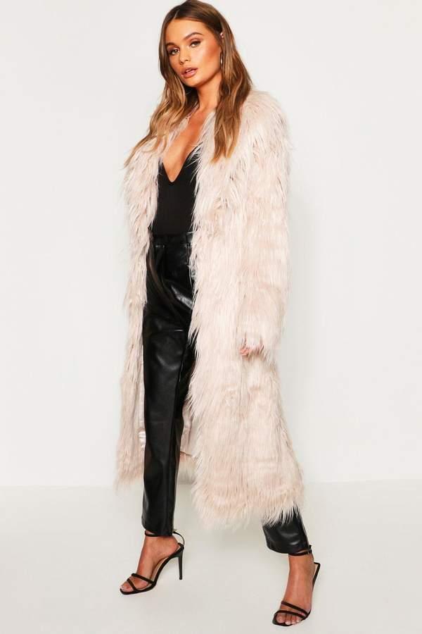 Maxi Mongolian Faux Fur Coat
