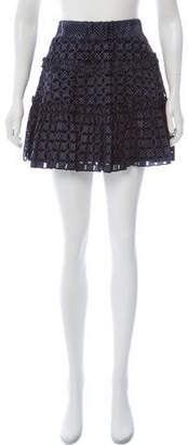 Alexis Polka Dot Eyelet Skirt w/ Tags