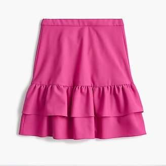 J.Crew Tallwool flannel ruffle skirt