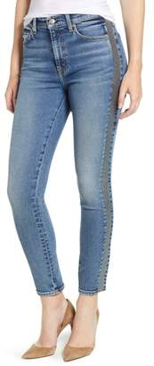 7 For All Mankind Luxe Vintage Side Stripe High Waist Ankle Skinny Jeans