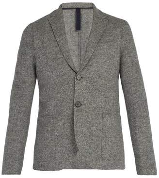Harris Wharf London - Donegal Single Breasted Wool Blazer - Mens - Light Grey