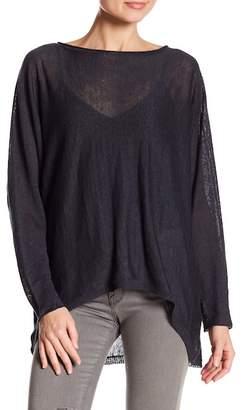 Acrobat Dolman Sleeve Hi-Lo Wool Pullover