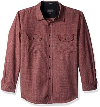 Pendleton Men's Long Sleeve Button Front Fitted Marverick Merino Shirt