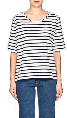 MM6 MAISON MARGIELA Women's Striped Inside-Out Cotton T-Shirt