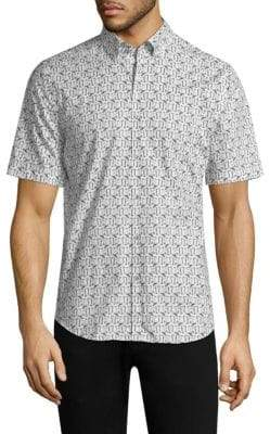 Vilebrequin Ben Flamingo Classic Fit Button-Down