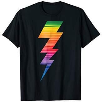 Lightning Bolt Rainbow Thunder Storm Pride Tshirt
