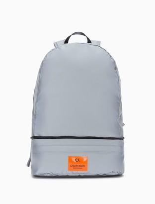 Calvin Klein reflective nylon packable backpack