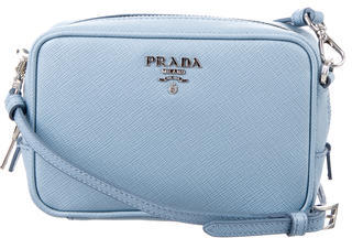 prada Prada Mini Saffiano Camera Crossbody Bag